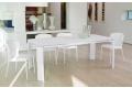 Tavolo bianco allungabile in vetro per sala da pranzo