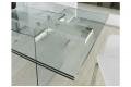 Tavolo allungabile da pranzo moderno in vetro trasparente