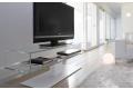 Porta tv moderno da soggiorno in vetro