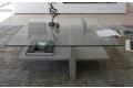 Tavolino rettangolare da salotto in vetro
