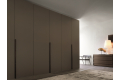 Modular wardrobe with hinged doors