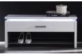 Panca moderna con griglia porta scarpe e luce led