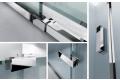 Profili in alluminio in finitura cromo cabina doccia angolare