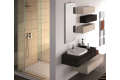 Modern bathroom with drawers and wall units
