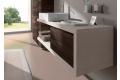 Base sospesa a C in ecomalta con cassetto per bagno moderno