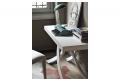Tavolo consolle di design bianca con piano laccato opaco e gambe intrecciate