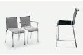 Sgabelli e sedie modello Net della ditta Bontempi sia da  inside che outside