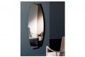 Specchiera di design verticale con cornice bronzata