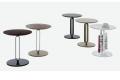 Tavolini moderni rotondi da caffè colorati in metallo