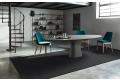 Tavolo ellittico per 10 persone moderno con piano e basamento in cemento