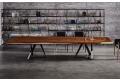 Tavolo da taverna in legno massello scortecciato noce secolare