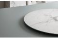 Tavolo di design con vassoio rotondo girevole in supermarmo