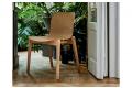 Sedia di design in rovere naturale da soggiorno o per ristoranti