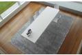 Tavolo fisso da 3 metri di design in lamiera di acciaio bianco zucchero