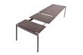 Tavolo in lamiera di acciaio allungabile con 2 allunghe di design