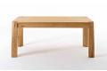Tavolo con gambe in massello rovere naturale con piano e allunga in rovere