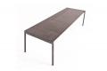 Tavolo per 10 posti a sedere moderno da cucina in lamiera di acciaio