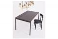 Tavolo di design da cucina per 8 persone allungabile in lamiera di acciaio