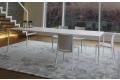 Tavolo da soggiorno di design per 12 persone in lamiera di acciaio bianco zucchero