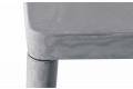 Tavolo in lamiera di acciaio resinata grigio cemento da soggiorno