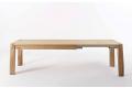 Tavolo allungabile fino a 3 metri per 14 persone in legno rovere nodato