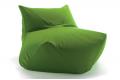 Pouf sacco verde per relax in soggiorno