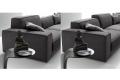 Divano moderno con schienale reclinabile