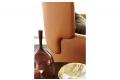 Poltrona moderna in pelle da salotto o camera da letto con schienale alto
