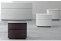 Gruppo letto di design con cassetti curvi