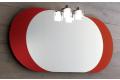 Specchio moderno con cornice laterale laccata