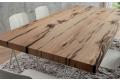 Dettaglio piano tavolo impiallacciato in rovere antico