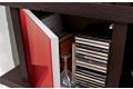 Libreria pensile modulare sospesa con anta in vetro colorato
