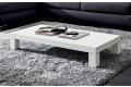 Tavolino basso rettangolare in legno bianco opaco da soggiorno
