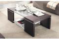 Tavolino rettangolare in legno da salotto con doppio ripiano