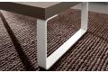 Tavolino rettangolare di design da salotto con gambe a slitta bianche