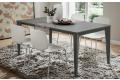 Tavolo con struttura in metallo e piano fenix grigio