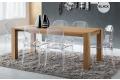 Tavolo in legno massello rovere gessato allungato con gambe in massello