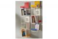 Libreria in metallo verticale sospesa a muro