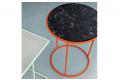 Tavolino in marmo nero rotondo da soggiorno