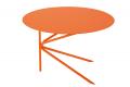 Tavolino basso rotondo di design in metallo laccato