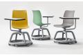 Sedie moderne da scuola e ufficio con tavoletta girevole e base porta zaino