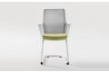 Sedia su slitta di design economica con braccioli e schienale in rete