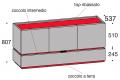 Misure madia soggiorno di design con ante e cassetto