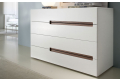 Design chest of drawers with 4 wooden drawers