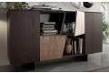 Madia moderna da soggiorno in legno e pietra