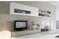 Parete soggiorno design in legno