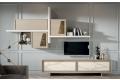 Parete soggiorno classica moderna in legno massello