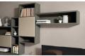 Mobile soggiorno con libreria componibile il laccato opaco