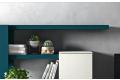 Mobile soggiorno design colorato in legno e laccato opaco