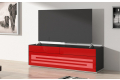Porta tv di design con anta serigrafata e cassetti